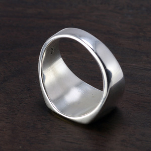 Image 2 - Genuine Solid 925 Sterling Silver Mens Signet OM Rings Simple Smooth Design Mantra Buddhist Jewelry