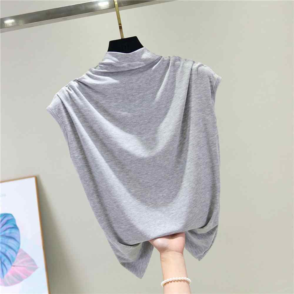 2020แฟชั่นผู้หญิงเสื้อสุภาพสตรีElegantคอแขนกุดTops Blouses Blusa Femininaเสื้อ