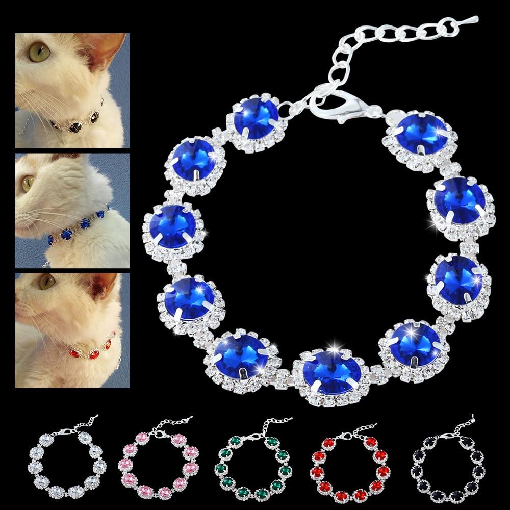 Fashion Jewelry Dog Crystal Collar Rhinestone Necklace Elegant Bling Shiny Pet Wedding...
