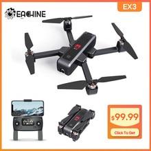 Eachine – Drone radiocommandé EX3 pliable, avec GPS, WiFi, 5G, FPV 2K, caméra à flux optique OLED, commutable à distance, sans balais, RTF