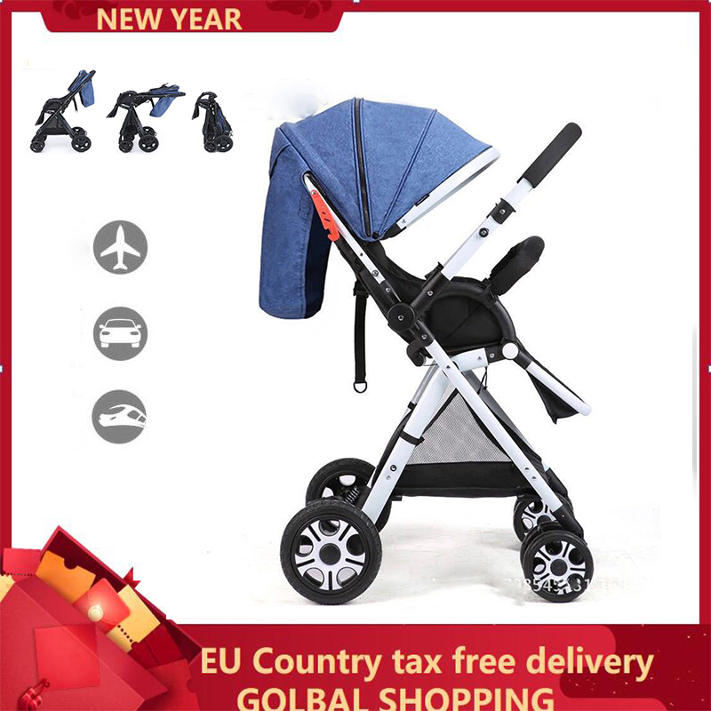 Lightweight Bidirectional Baby Stroller Folding Car Umbrella Can Sit Can Lie Ultra-light Portable On The Airplane Chidren Pram