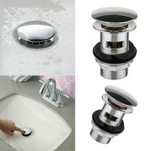 Кухонные ванны раковины всплывающие кнопки Слив для раковины щелевой ванной хромированный клик пробка дренаж для раковины аксессуары