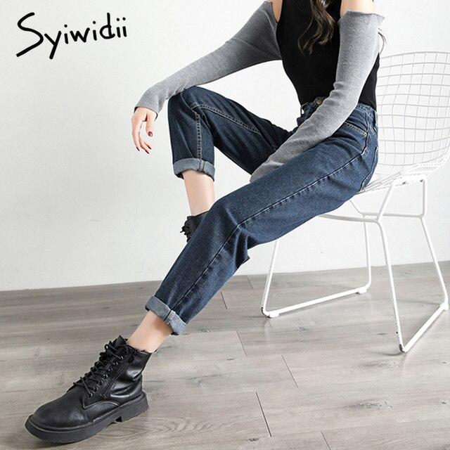 gray blue high waist jeans woman   2