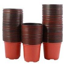 200 pces 4 polegada de plástico flor mudas berçário suprimentos plantador pote/potes recipientes sementes vasos de partida vasos de plantio