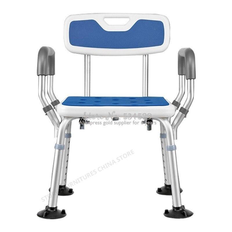 38%Toilet Chair For Elderly Toilet Foot Stool Shower Seat Shower Chair Toilet Step Aluminum Alloy Adjustable Height Non-slip