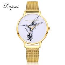цена на 2019 New Gold Women Watch Women's Birdie Mesh Belt Quartz Ladies Watch Fashion Big Dial Watch Female Wristwatch Bayan Kol Saati