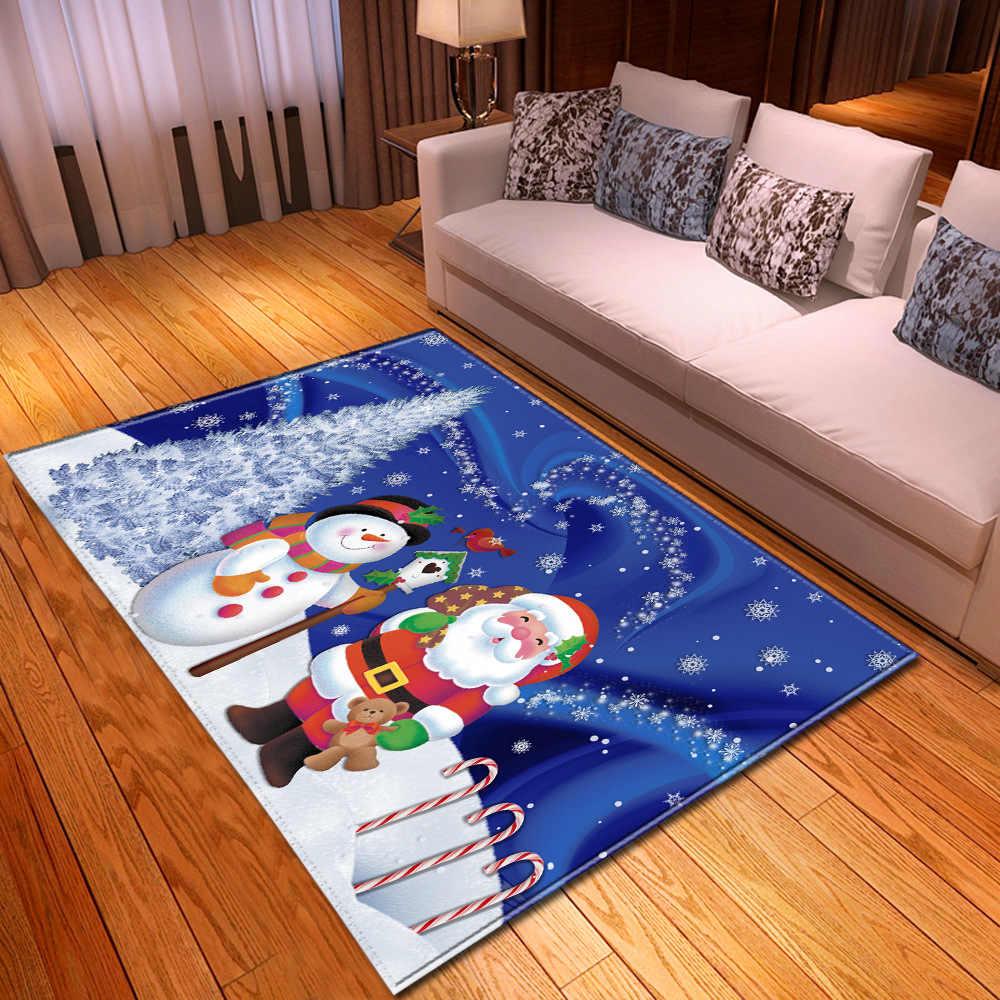 Świąteczny dywan do salonu dekoracja wnętrz duży dywan pokój dziecięcy 3D wzór dywan dla dzieci sypialnia maty nocne