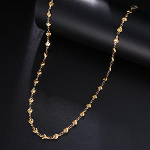 CACANA Chain Necklaces Pendant Heart-Shaped Fade Stainless-Steel Women Jewelry Gold-Silver-Color