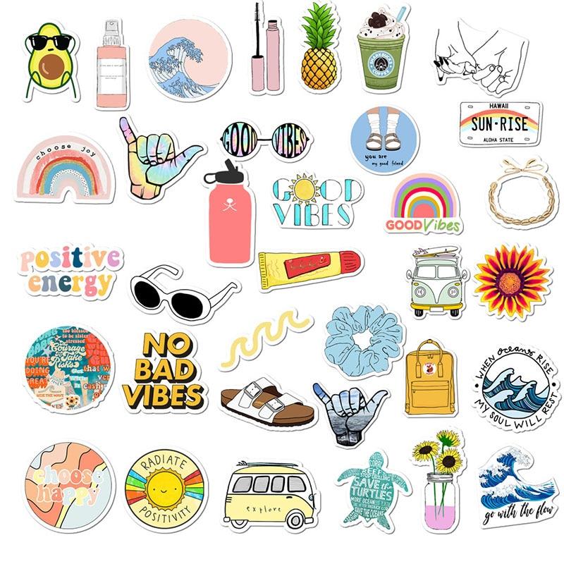 35Pcs/lot Simple Girl Cute Cartoon Vsco Sticker Pack DIY ...