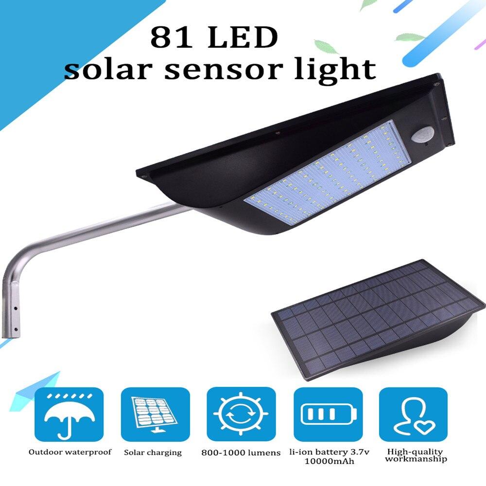 Solar Night Light Strong Light Power Outdoor IP65 1000 Lumen 81 /110 Leds Solar Street Light Motion Sensor Solar Lamps|Solar Lamps| |  - title=