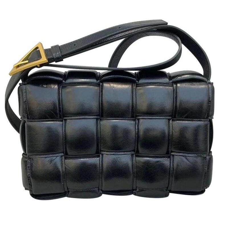 Latest Korean Fashion Style Women Messenger Bag Puffer Leather Triangle Buckle Strap Female Shoulder Bags Brand Designer Sac
