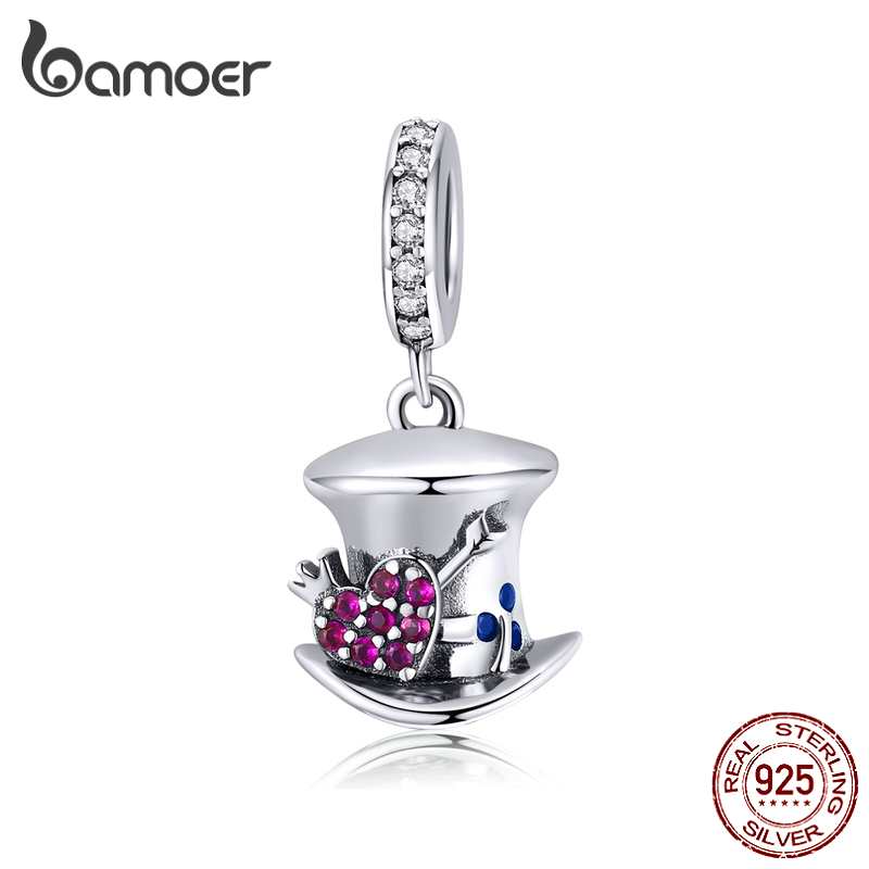 Bamoer Magic Forest Adventure Collection Magical Hat Dangle Pendant Charm For Original Bracelet Necklace DIY Jewelry SCC1441