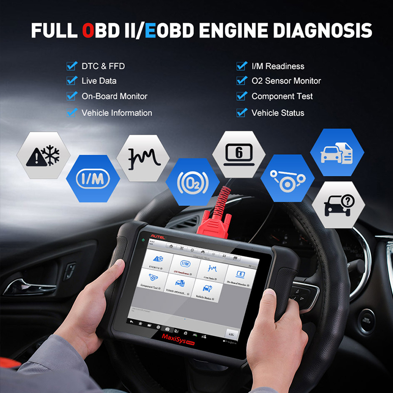 Image 4 - Autel MaxiSys MS906 Automotive Diagnostic Tool All System Code Reader Scanner with ABS/SRS/SAS/EPB PK MP808 DS808
