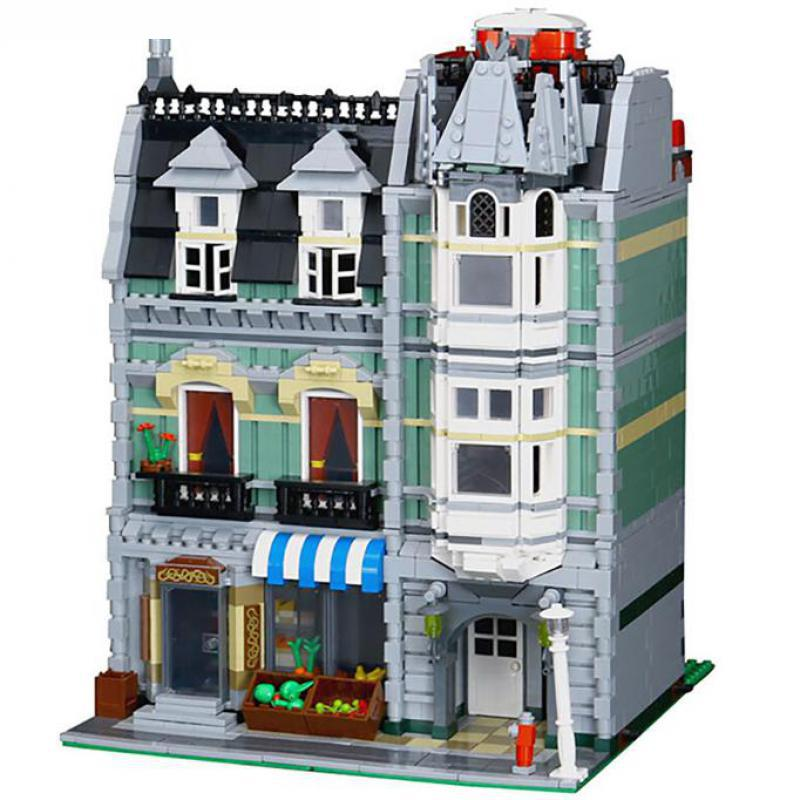 legoinglys City Street Building <font><b>15008</b></font> compatible with 10185 Green <font><b>Grocer</b></font> Model Building Kits Blocks Bricks Educational toy for c image