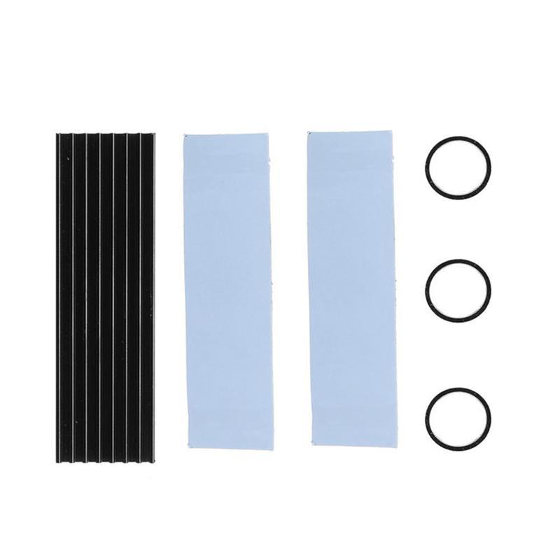 Disco Duro de aluminio M2 disipador de calor radiador refrigeración de silicona almohadillas térmicas enfriador para M2 NGFF 2280 PCI-E NVME SSD