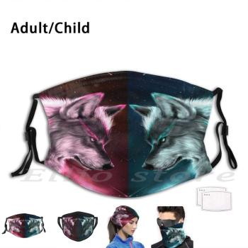 Dago Wolf Washable Filter Mask Warm Scarf Mask Cover Cover Price Old Live Onna Hacks Motif Croco Migos Diy Lyrics De Star image
