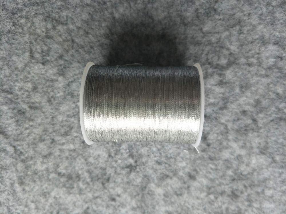 Металлическая нить для вышивки, аксессуары для одежды DIY, основные 15 видов цветов на выбор, нить для шитья, 1 шт - Цвет: silver