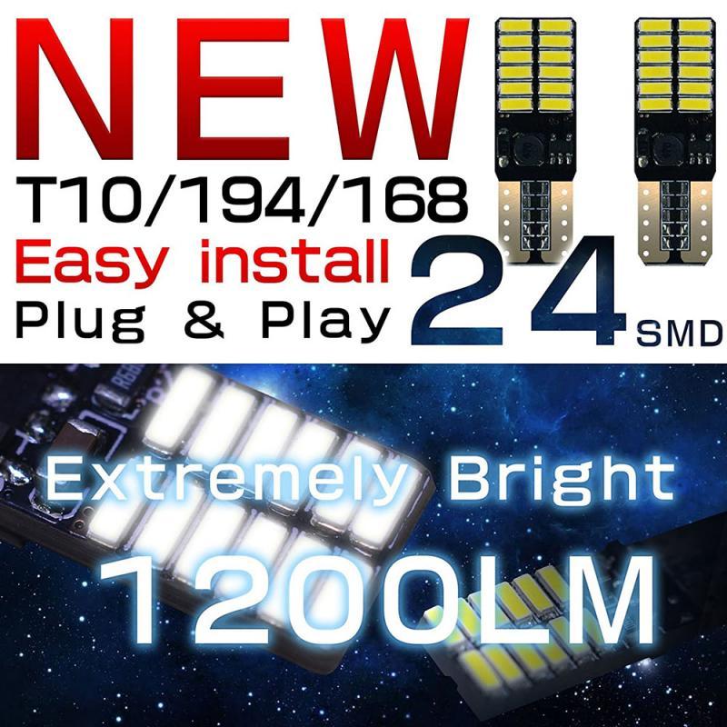 LED de voiture allume T10 4014 24 lumières montrent le courant Constant large avec le décodage