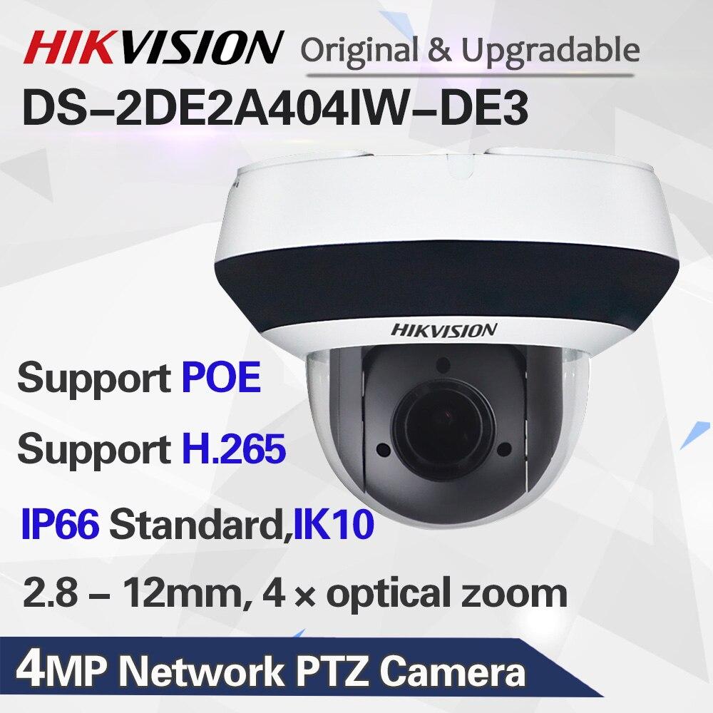 DS-2DE2A404IW-DE3 IP PTZ камера H.2654MP 4X зум 2,8-12 мм объектив сети видеонаблюдения POE, купольная CCTV камера Аудио