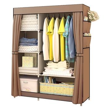 Bedroom Multipurpose Non-woven Cloth Wardrobe Folding Portable Clothing Storage Cabinet Dustproof Cloth Closet Home Furniture