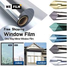 Splitter Privatsphäre Eine Möglichkeit Spiegel Fenster Aufkleber Film Reflektierende Solar Farbton für Home Glas Fenster Wärme Steuerung Vinyl Film