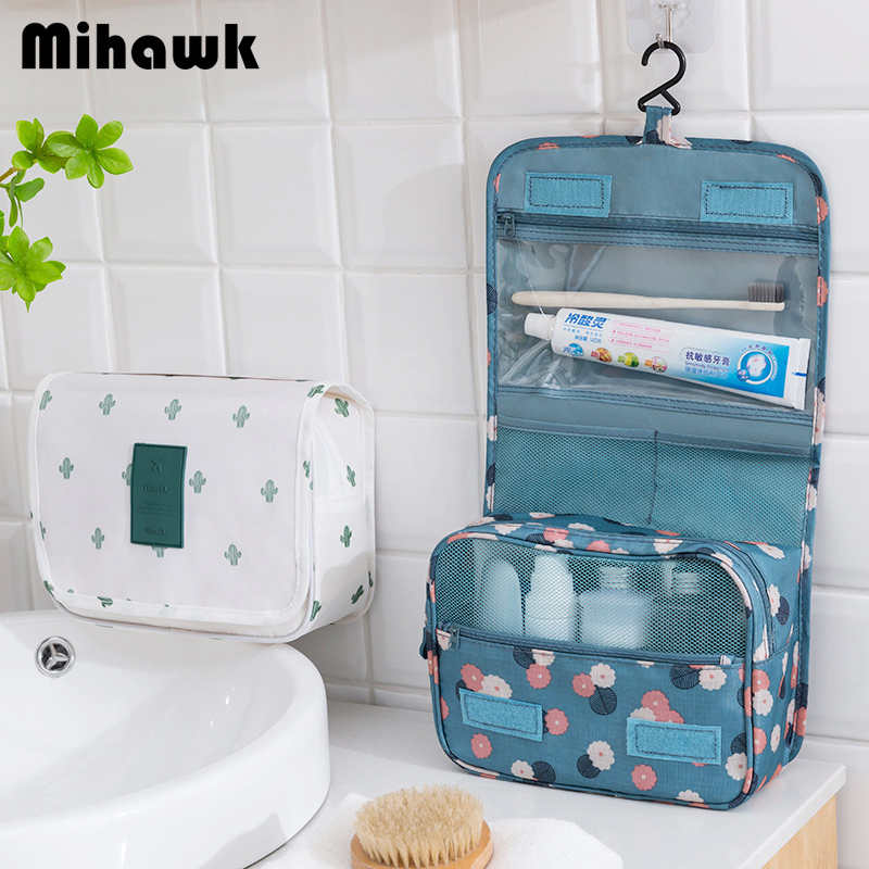 Mihawk Women's Men's Hanging Cosmetic Bag Makeup Case Travel Organizer Wash Pouch Beauty Products Toiletry Storage Accessories
