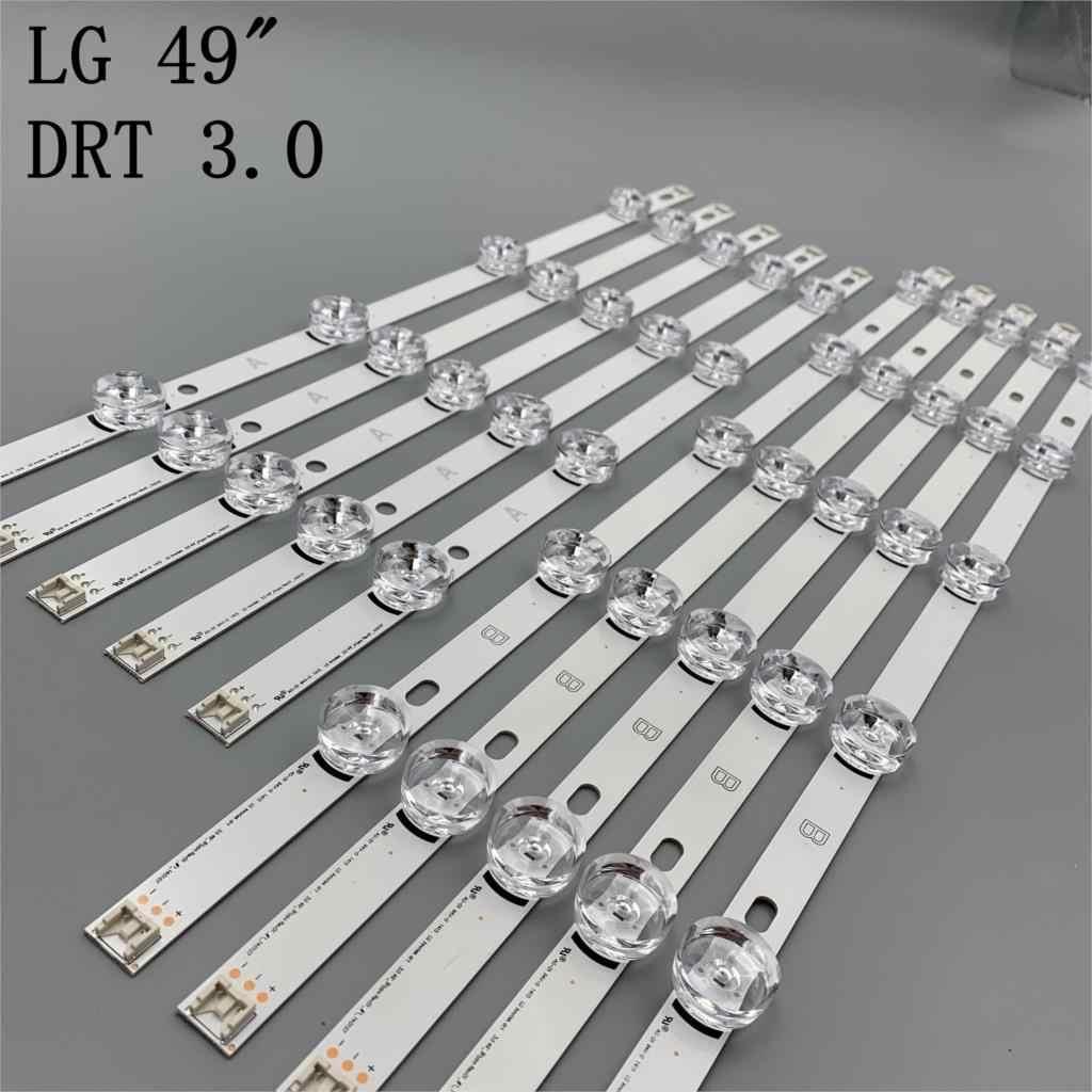"""Tira de LED de 10 Uds. Para LG Innotek DRT 3,0 49 """"A/B 49LB5500 49LB550V 49LB5550 6916L-1944A 6916L-1945A 6916l-178a"""