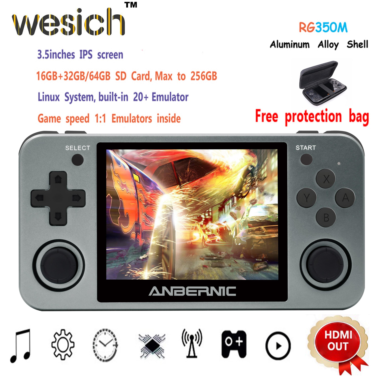 WESICH Ретро игра RG350M видеоигры обновленная игровая консоль ps1 игра 64bit opendingux 3,5 дюйма 2500 + игры RG350m детский подарок
