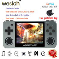 WESICH Retro game RG350M Video games Upgrade game console ps1 game 64bit opendingux 3.5 inch 2500+ games RG350m Child gift