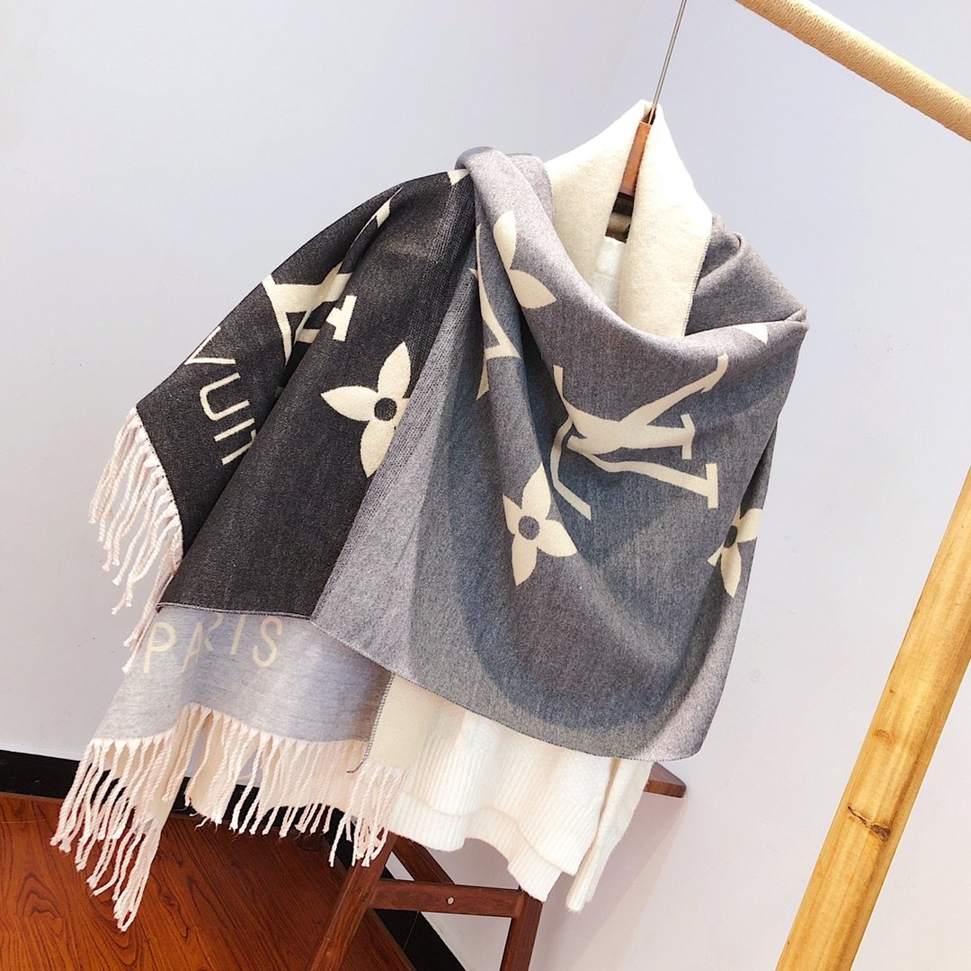 Women Color Gradient Scarf Brand Christmas Present Pashmina Female Scarves Print Stoles Lady Shawls Wraps Girlfriend Mother Gift