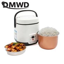 DMWD Мини рисоварка Электрический нагрев Ланч-бокс тушеная суп лапша приготовления яиц Пароварка еда Ланчбокс торт производитель 1.2L