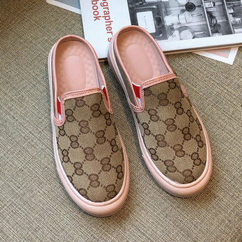Women Sandals Fashion Casual Shoes for Woman Breathable Comfortable Canvas Slippers Ladies Summer Flat Slip-on Womens Shoes moxxy summer retro leather slippers women printing mules loafers slip on flat sandals black ladies shoes woman zapatos m