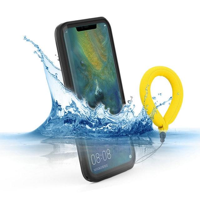 Mate30 5G Mate20 פרו IP68 עמיד למים מקרה Funda Huawei Mate 20 פרו מקרה 360 להגן על זוג צדף 30 פרו מקרה מים הוכחה כיסוי