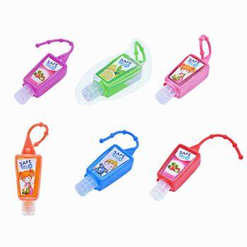 цена на 30ML Random Color Reusable Mini Hand Sanitizer Fruit Scented Disposable No Clean Travel Portable Clean Moisturizing Safe Gel Wit