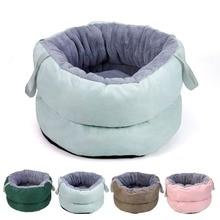 Nest Soft Bed-Cushion Sleeping-Bed Cat Velvet Small Dog Kitten Deep-Sleep Winter Portable