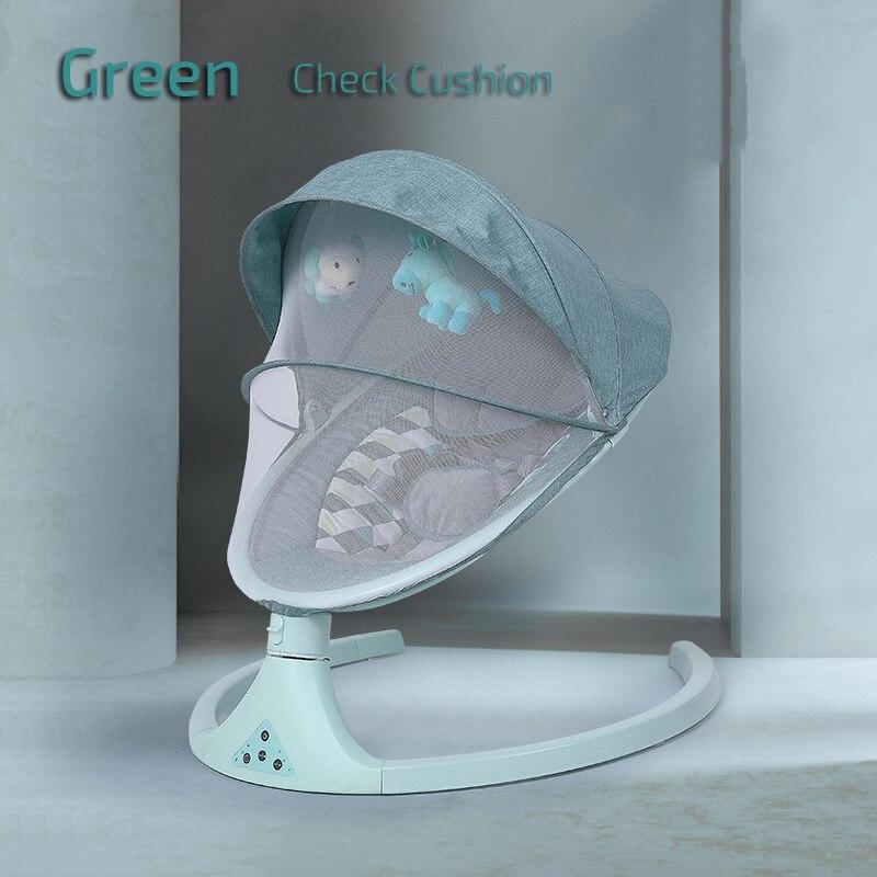 1check cushion-green