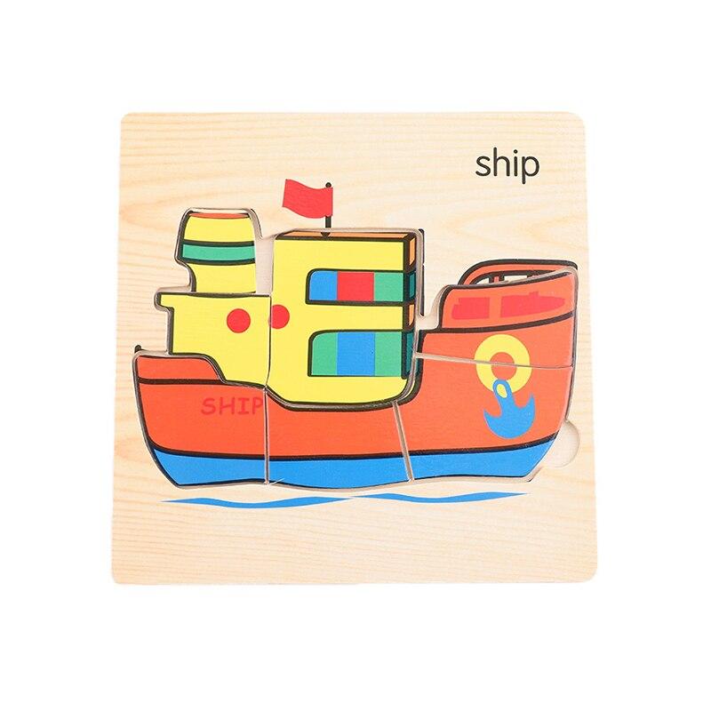 Let'S Make 1 шт. игрушки Монтессори квадратный деревянный пазл мультфильм Ранние развивающие детские игрушки деревянный пазл, игрушки - Цвет: 21