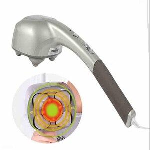 Image 4 - Электрический массажер с 4 головками для шейного отдела позвоночника, многофункциональный Вибрационный массажный молоток для всего тела с шейной талией