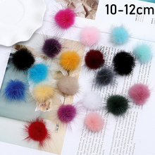 1pc Pom Hair Balls for Hat Top Decoration Hairball  DIY Ball Balls Faux Fox Fur with Buckle PomPom Soft 10-12CM Cap Accessories