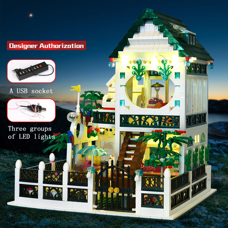 01202 The New Romantic Heart Set Building Block Bricks Educational Toy With Light  As Valentine's Day Present 2