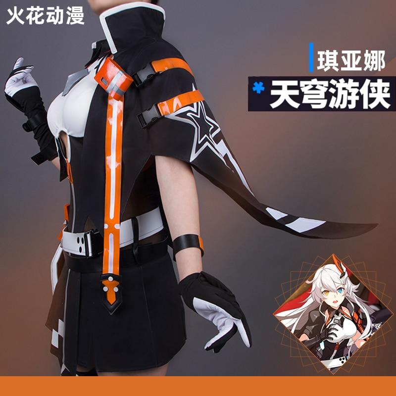 Honkai Impact 3 Kiana Kaslana Cosplay Costume Uniforms Free Shipping F