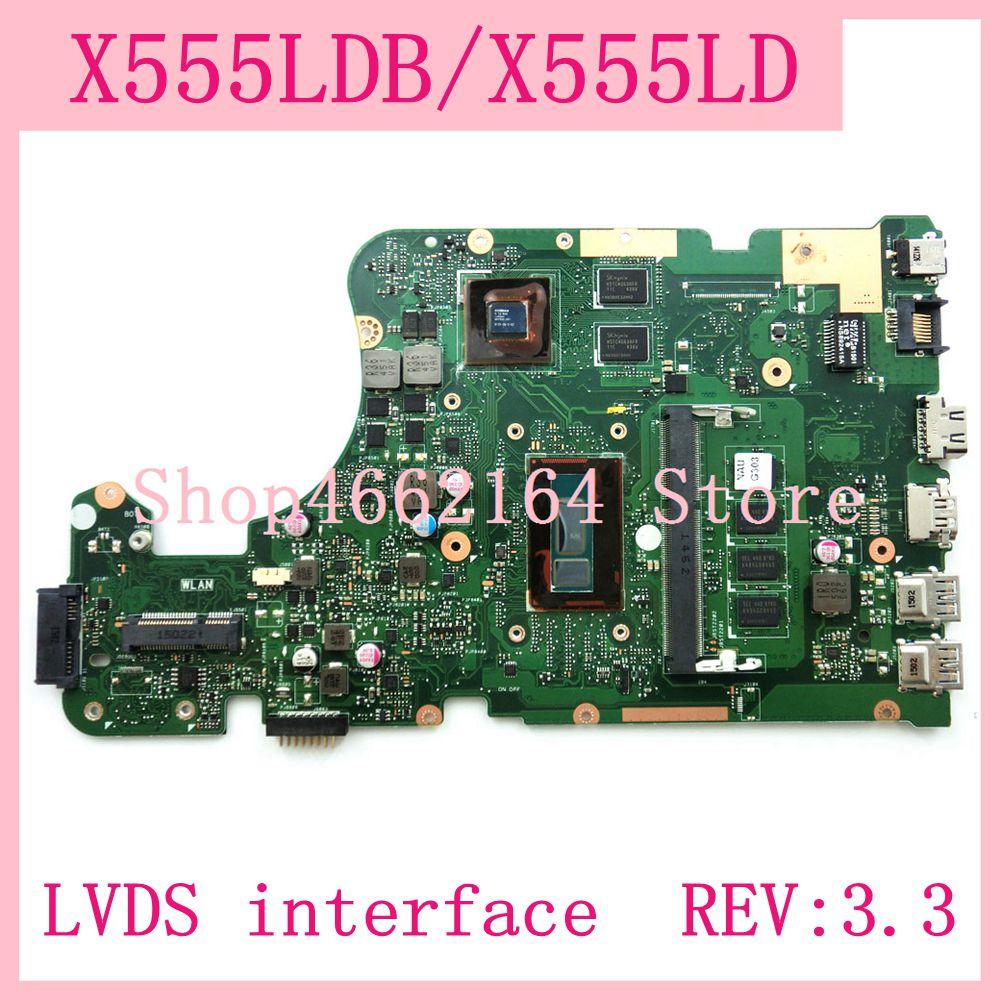 X555LDB интерфейс LVDS 4G Оперативная память GT820M REV: 3,3 материнская плата для ноутбука ASUS X555L A555L K555L F555L W519L X555LD X555LDB материнская плата для ноутбука