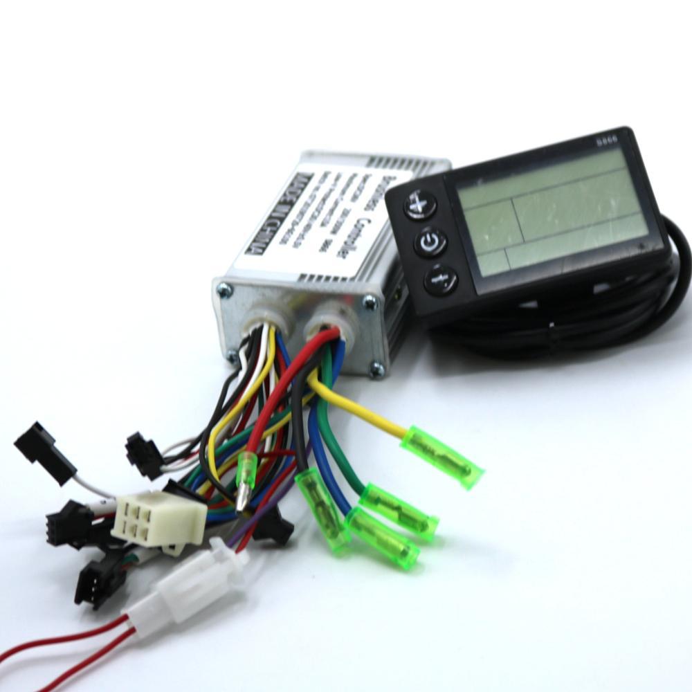 GREENTIME 24V/36V/48V 250W BLDC Motor Controller E-bike Brushless Speed Driver And S866 LCD Display One Set