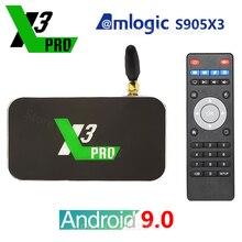 X3 פרו X3 קוביית Amlogic S905X3 אנדרואיד 9.0 טלוויזיה תיבת 2GB 4GB DDR4 16GB 32GB ROM 2.4G 5G WiFi 1000M LAN Bluetooth 4K HD Media Player