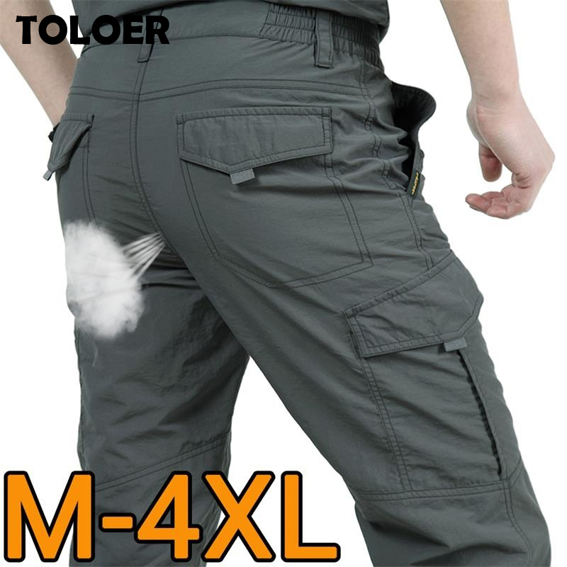 Breathable Cargo Pants Men lightweight Waterproof Quick Dry Casual Pants Male Summer Army Military Style Trousers Tactical Pant