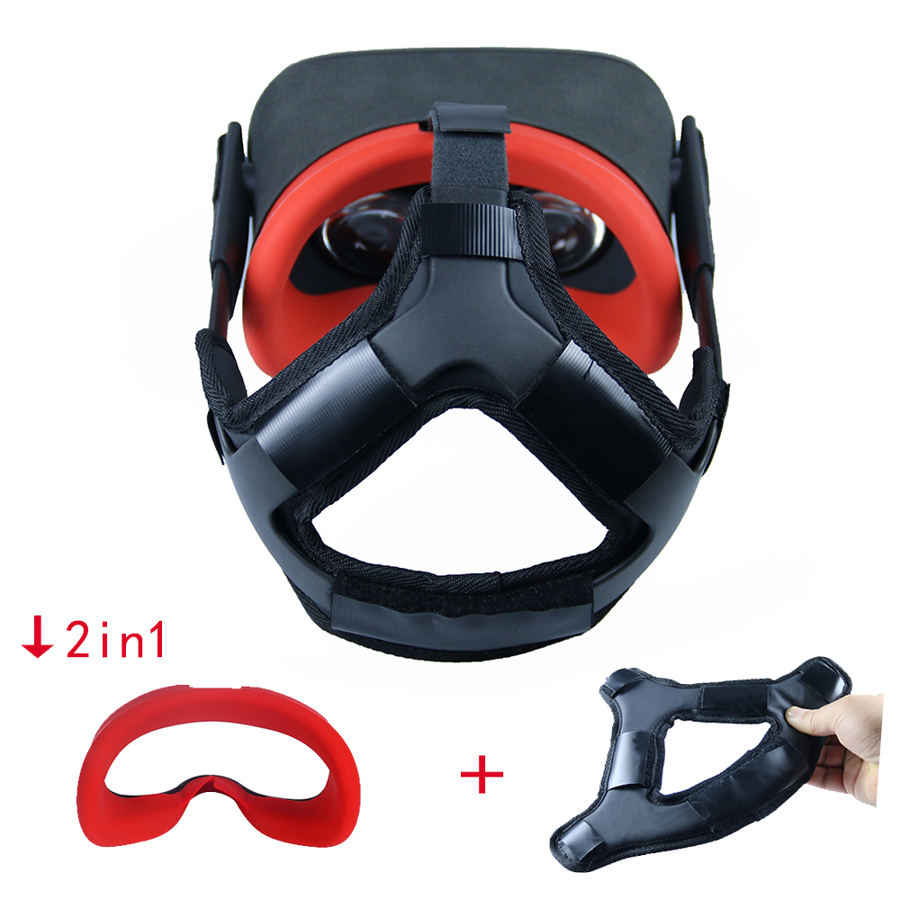 Newest Non-slip VR Helmet Head Pressure-relieving Strap Foam Pad for Oculus Quest VR Headset Cushion Headband Fixing Accessories 4