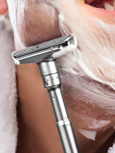 QSHAVE Hair-Removal File Safety-Razor Shaving-Mild Classic Adjustable Double-Edge Aggressive