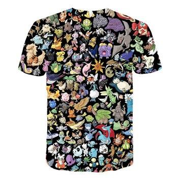 The New 3D baby Children Cartoon Pokemon t shirt Kids Boys Anime T Shirt O-Neck Clothes 2020 Summer Fashion casual Tops 2