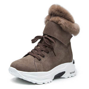 Women's Boots New Winter Snow Short Boots For Girls Female Genuine Leather Short Matte Plus Velvet Cotton Shoes women