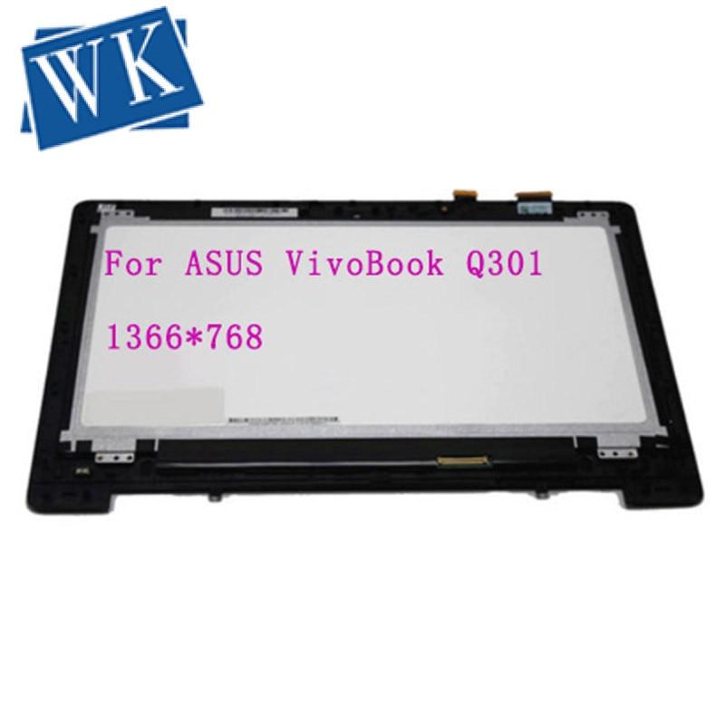 Full LCD Touch Assembly for Asus Q301 Q301L Q301LA Q301LP Series JA DA5308RA,WITH Bezel free shipping